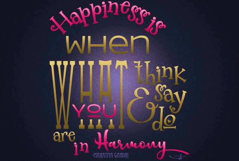 Happiness is You in Harmony