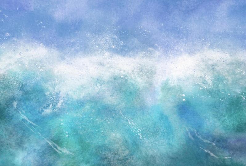Sea watercolor brushes