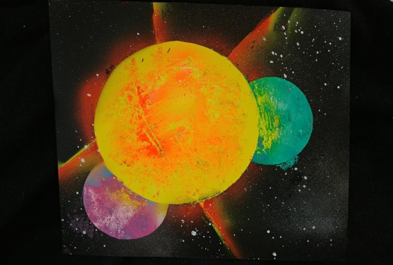 bada** art created after taking a basic spray paint course!