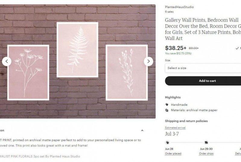 Gallery Wall Prints Listing