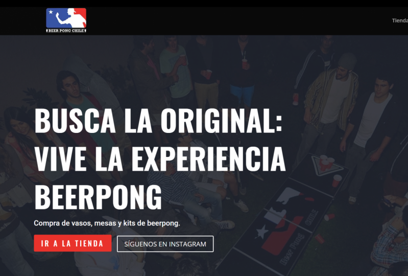 Beerpong Website - Made with and Divi