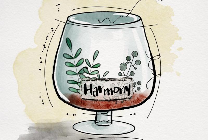 Sketchy Doodle Glass Bottle Terrarium