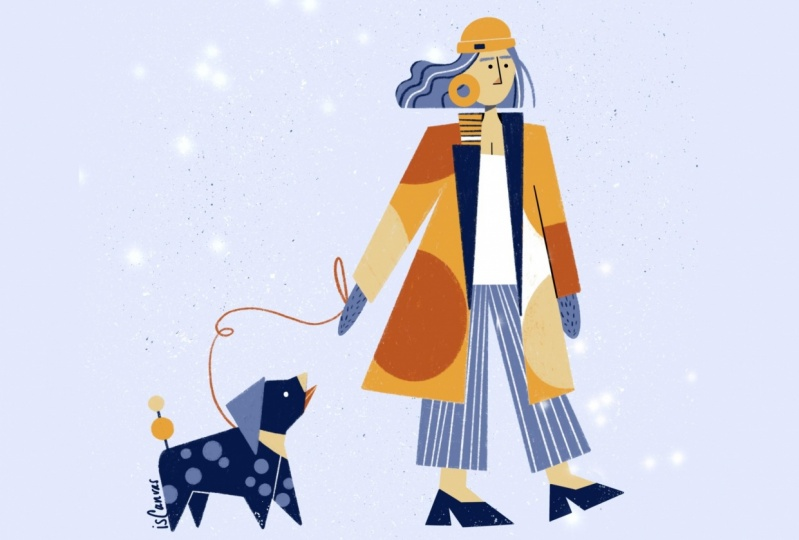 Bold artsy X winter fashion
