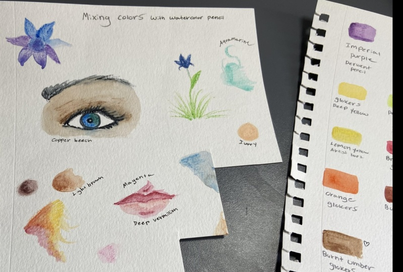 Swatches and watercolor doodles