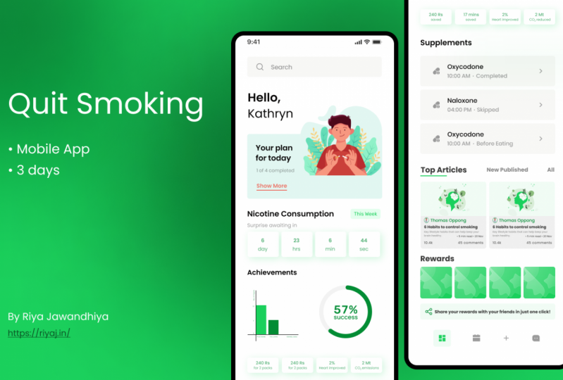 Quit Smoking App case study