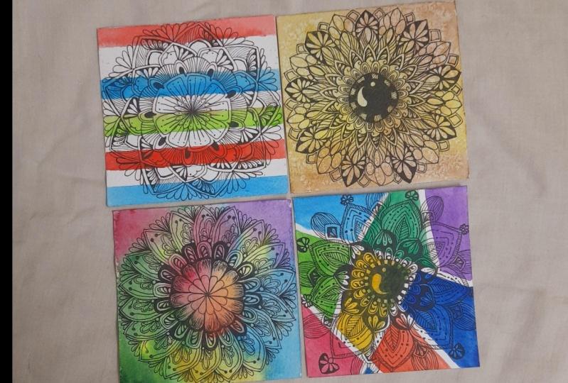 3 Mini Mandalas - A therapeutic journey
