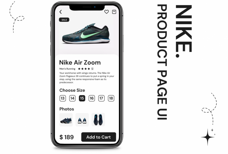 Nike - Product Page UI Design