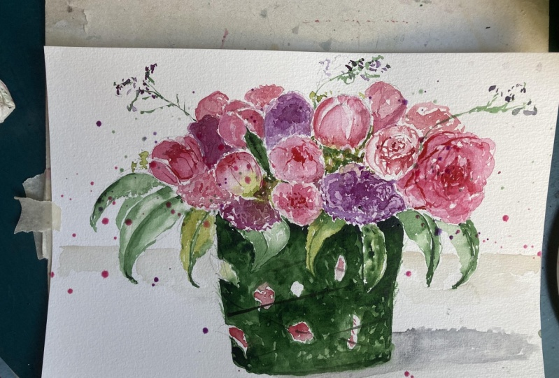 My version of a flower composition