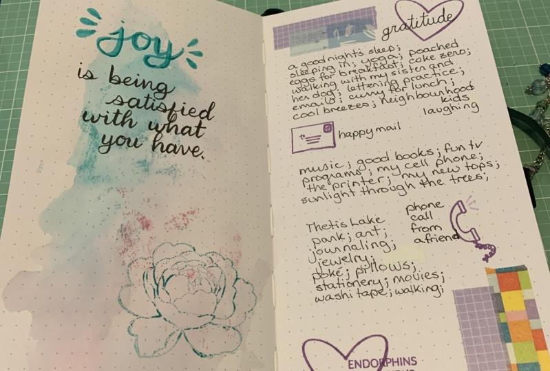 Quote page and journal page