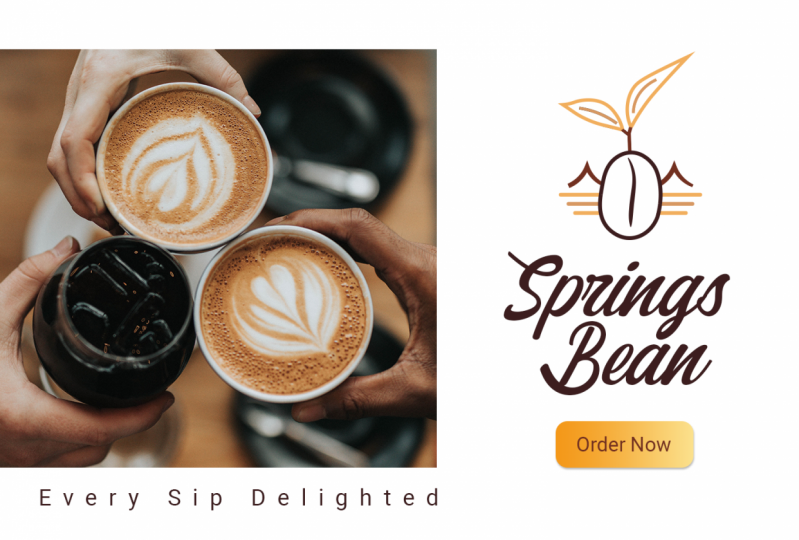 Banner for a coffee brand - Springs Bean