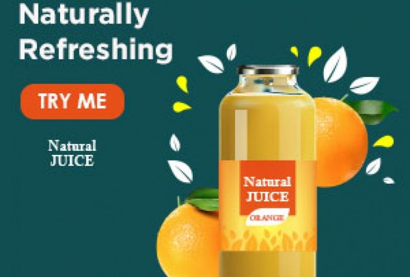 Natural Juice Website Ad