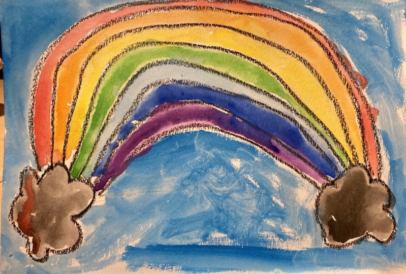 Rainbow with 7 colors by Lenny