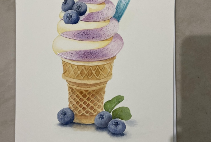 Finished the ice cream