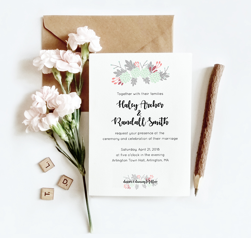 How to design your own spring wedding invitation in adobe when i was teaching myself how to use adobe illustrator i needed a concrete project to complete and i gravitated toward wedding invitations and save the stopboris