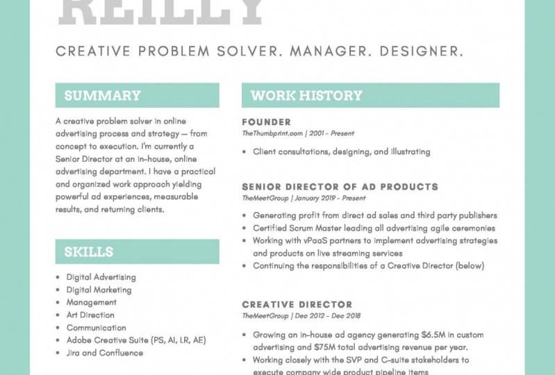 TheThumbprint: Resume Update