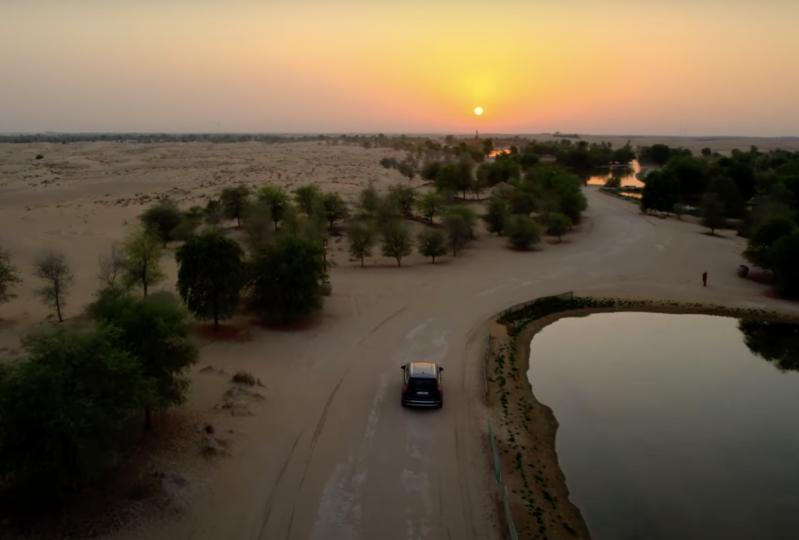Droning through Love Lake, Al Qudra Dubai