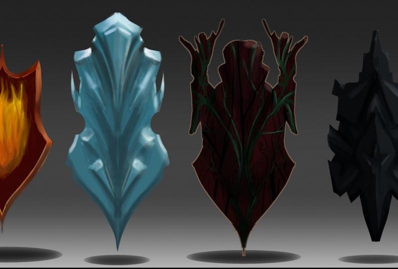 Elemental Sword Sketches