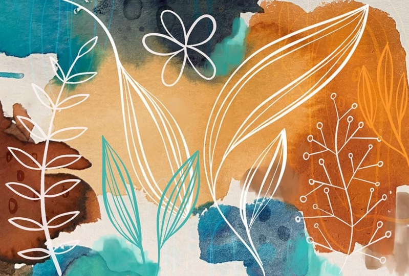 Watercolour Abstract Floral Wall Art