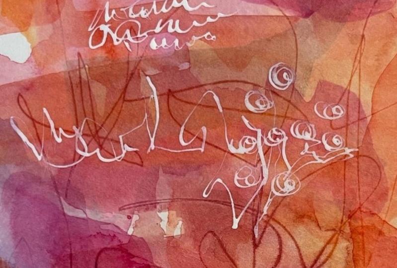 Watercolor scribbles