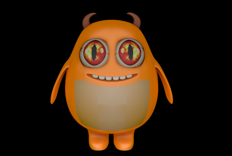 a Happy Monster character