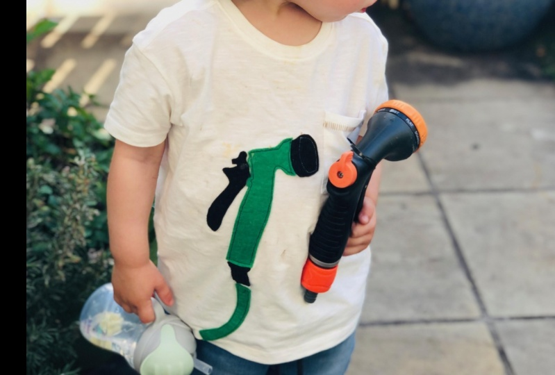 My nephew loves hoses...and I couldn't buy a hose shirt anywhere!