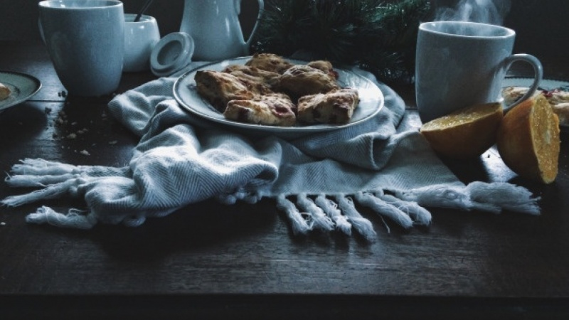 An Afternoon Gathering: Coffee and Cranberry Orange Scones