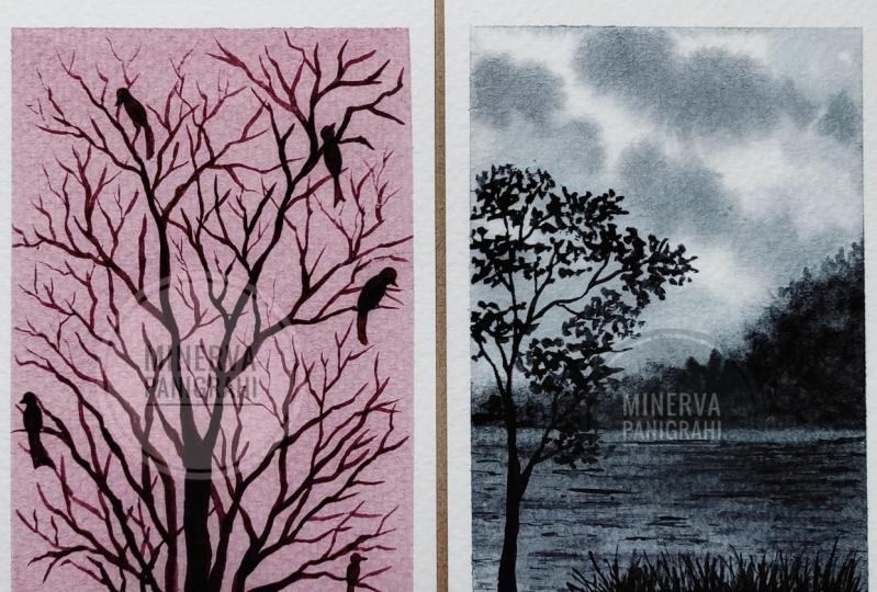 Monochromatic Landscapes in Watercolors