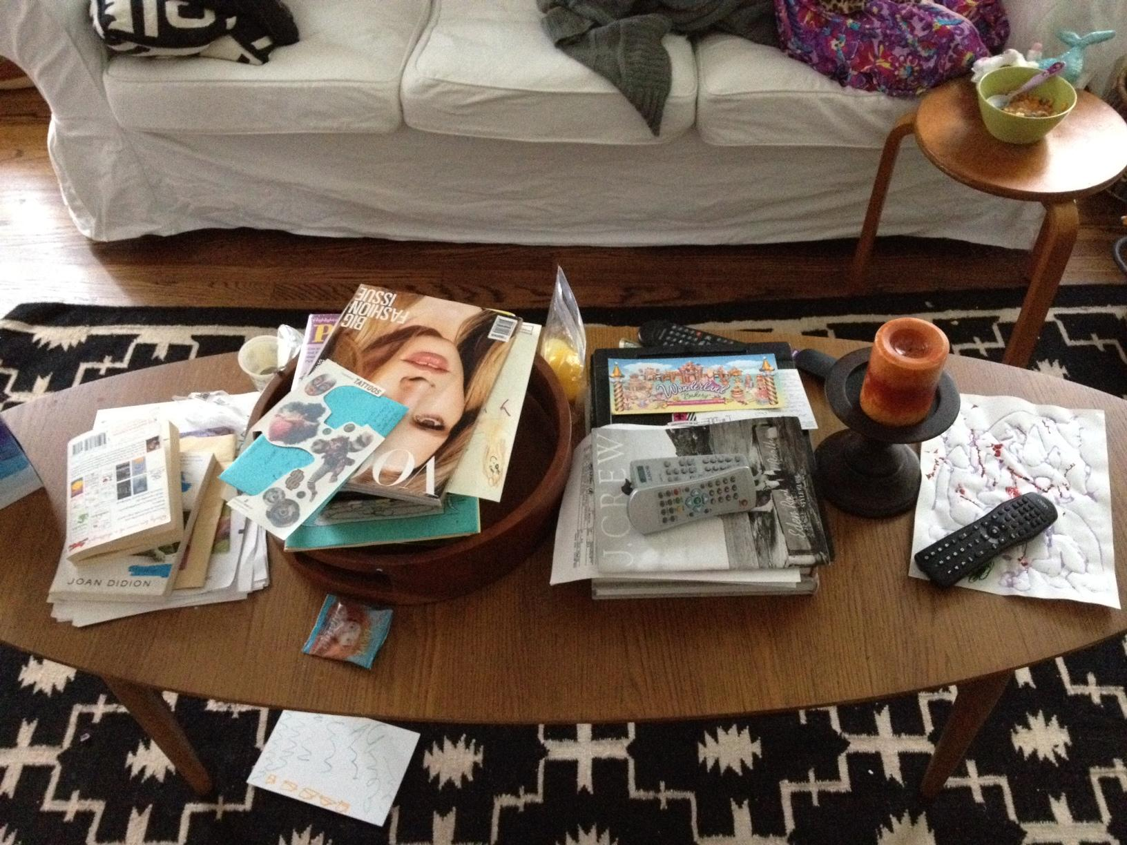 Image result for living room table messy