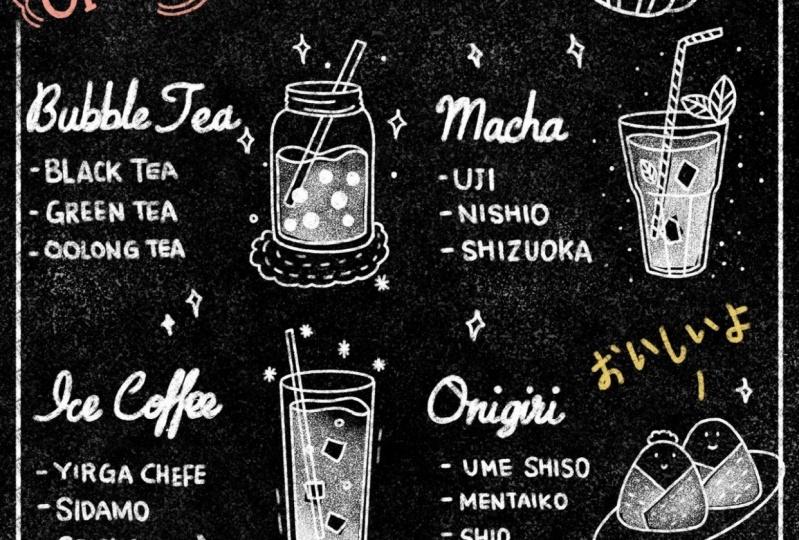 my chalkboard cafeteria menu