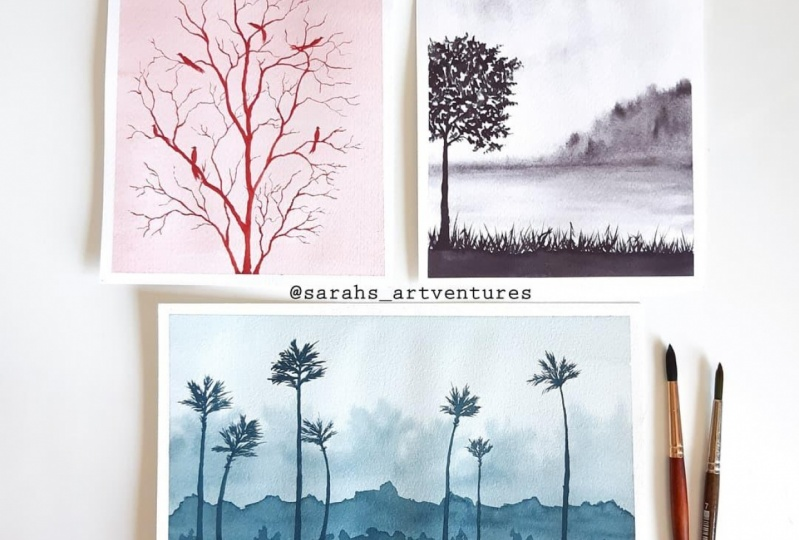 Monochrome landscape projects
