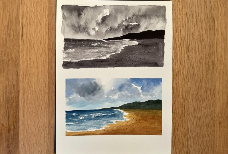 Clouds and Beach Homework