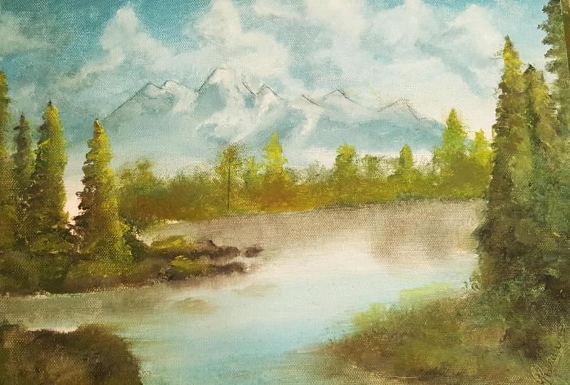 oil painting of landscape by Juana Jijo