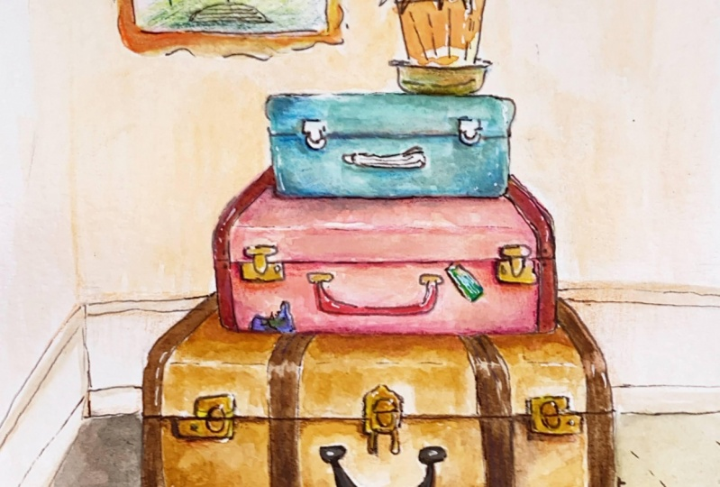 Vintage Luggage Illustration