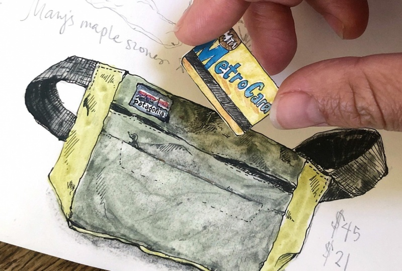 Tiny Metrocard in a Pouch
