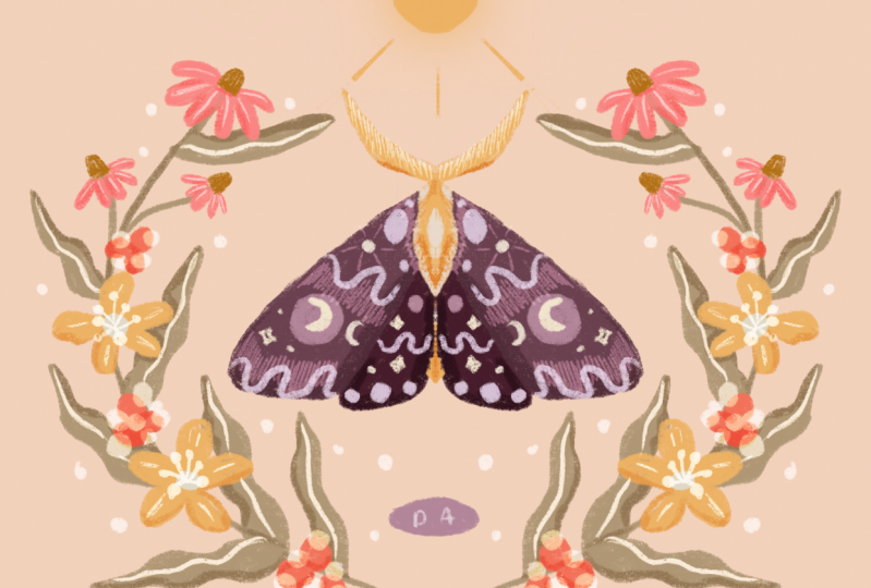 Magical moth by Dian