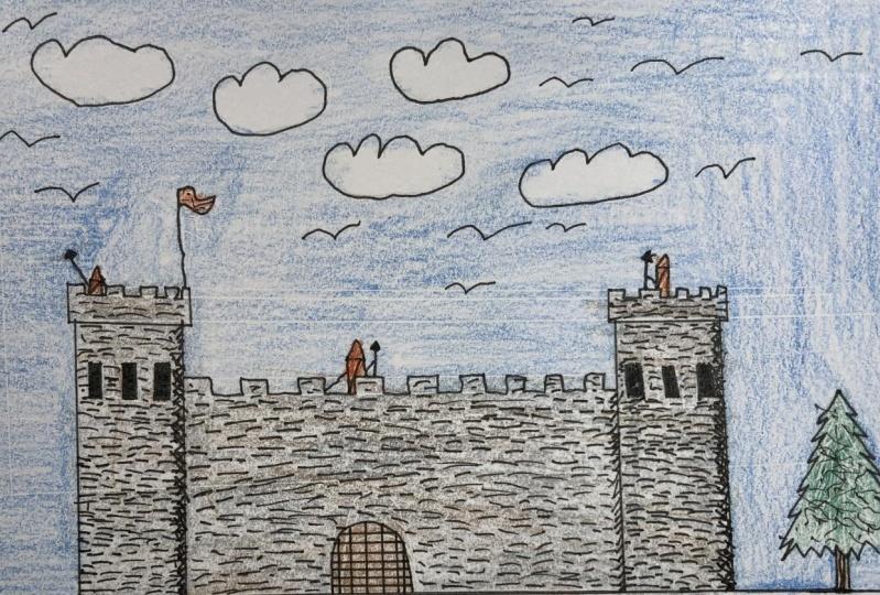 Simple medieval castle