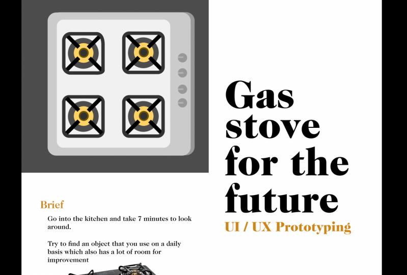 Gas stove interface design