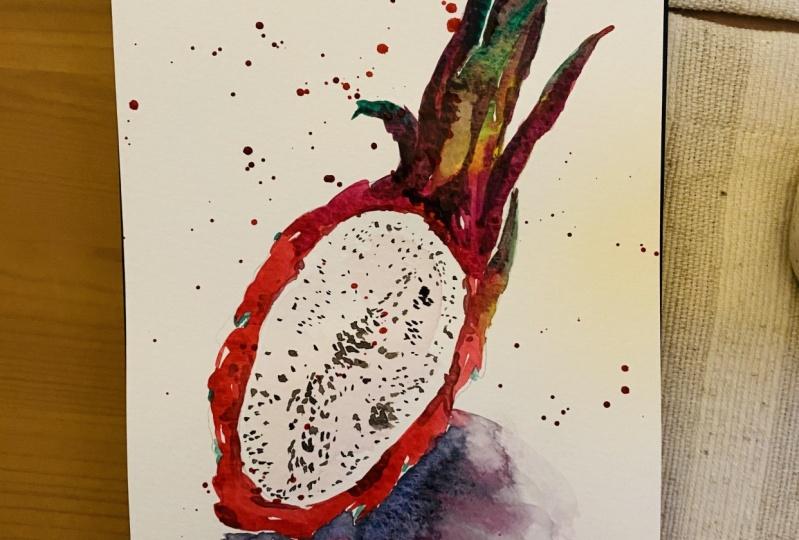 Watercolor Dragonfruit