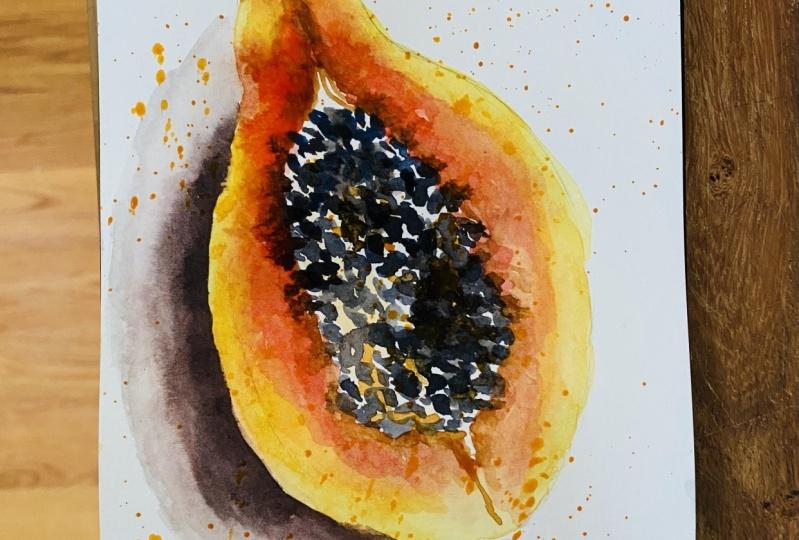 Watercolor Papaya