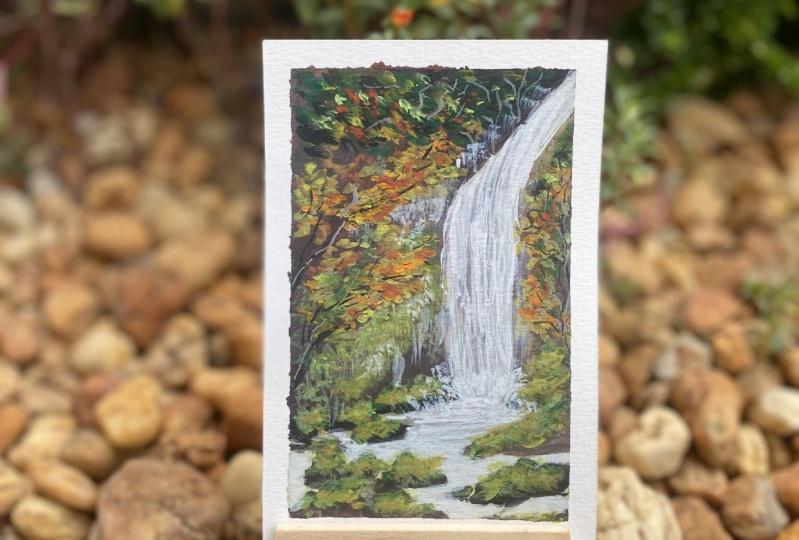 Autumn Landscapes Masterclass using Gouache