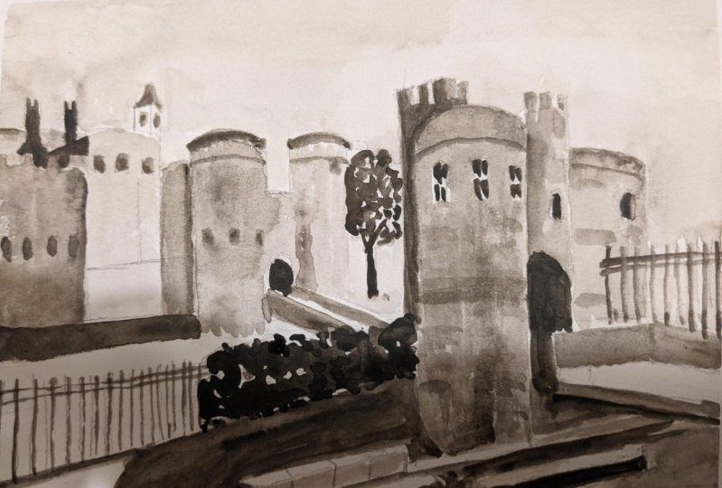 Tower of London in Sepia
