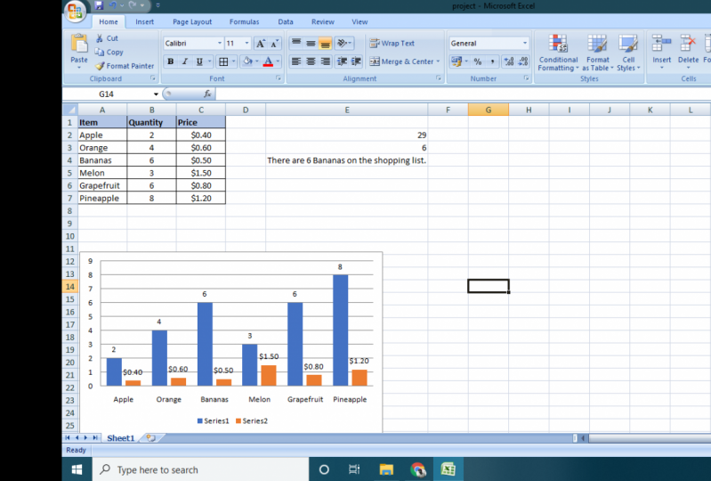 Excel Project #1