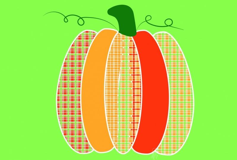 Contemporary Pumpkin Tartan