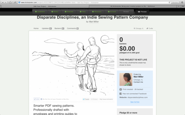 Disparate Disciplines Home Sewing Patterns