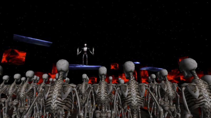 Robot vs Skeletons