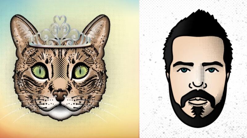 Pet & Self Portrait Sample