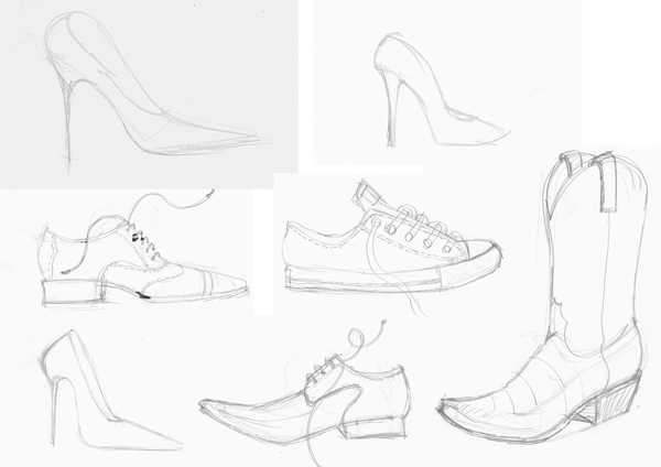 Line Art Shoes : Shoes make your watercolor repeating pattern skillshare projects