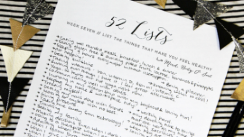 The 52 Lists Project  //  Inspiring Women to Own their Story & Recognize Their Beauty and Power