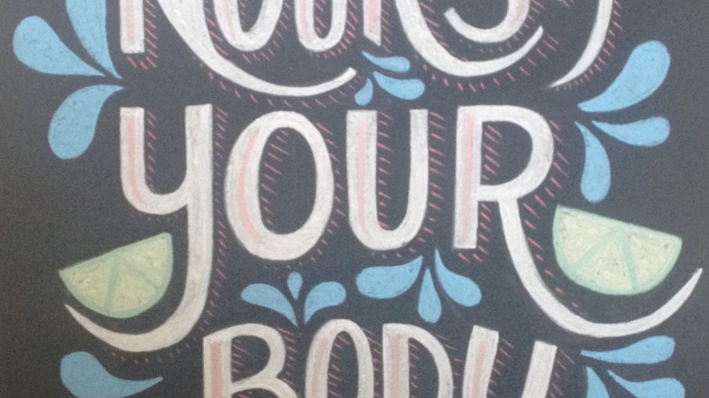 Nourish Your Body - Kitchen Chalkboard