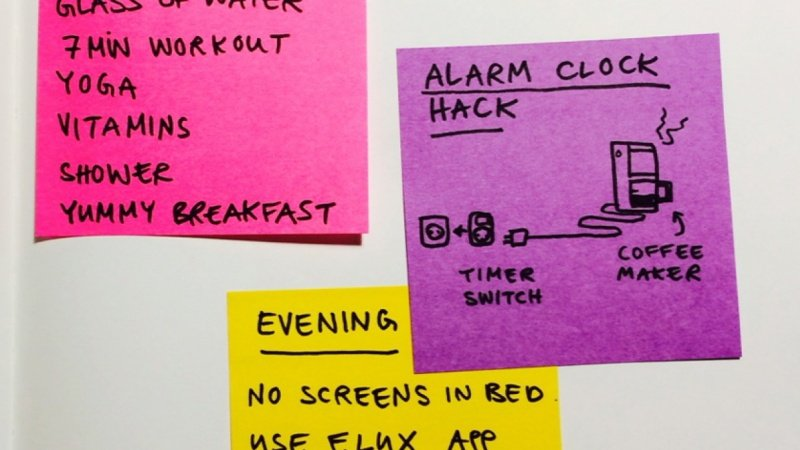 building an evening and morning routine